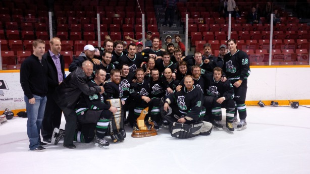 The Ripley Wolves won the WOAA Sr. A championship in seven games over the Shallow Lake Crushers. They came back from being down 3-1 in the series and won Games 6 and handily, 7-1 and 5-0 respectively.